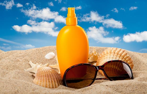 zonnebrand strand schelpen